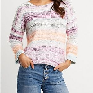 Charlotte Russe Striped Pullover Sweater
